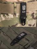 Mil-tec karabiner 0- negative vércsoport jelzéssel, fekete színű