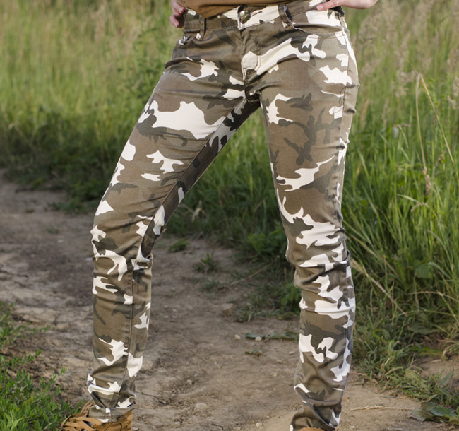 Női nadrág Ping classic katona minta