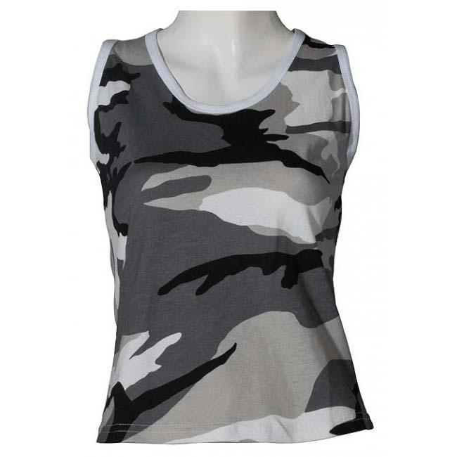 86cd3343b3 Éppen most 7 vásárló nézi MFH női álcás ujjatlan trikó, minta metro. Tekintse  meg a nagy képet