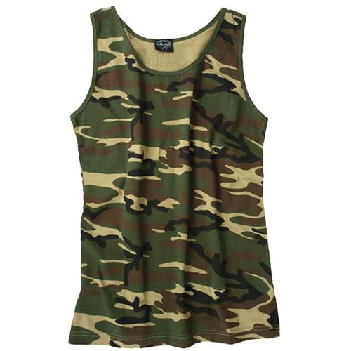 9e6a300196 Éppen most 11 vásárló nézi Mil-Tec ujjatlan trikó Woodland, 140-145 g/m2.  Tekintse meg a nagy képet