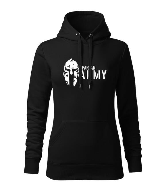 a8d19eb5a4 ... O&T kapucnis női pulóver spartan army, fekete 320g / m2. Tekintse meg a  nagy képet