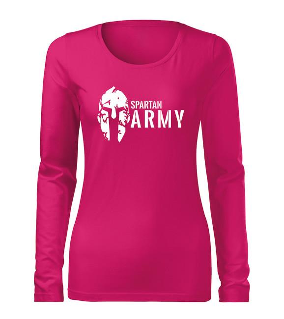 99f5a4ca80 ... O&T Slim női hosszú ujjú póló spartan army, rózsaszín 160g/m2. Tekintse  meg a nagy képet