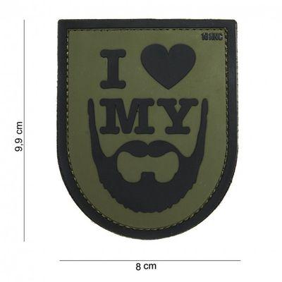 """M-Tramp PVC címke """"I love my beard"""""""