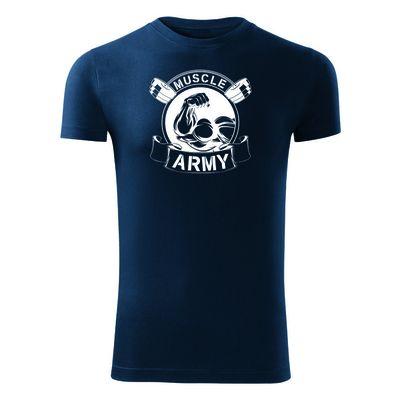 O&T fitness póló muscle army original, kék 180g/m2