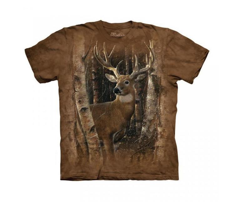 Éppen most 4 vásárló nézi The Mountain 3D póló szarvas az erdőben. Tekintse  meg a nagy képet 8440cdd81d