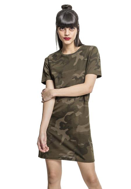 Urban Classics női terepmintás ruha, olive camo   ArmyMarket